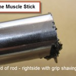 end of rod - jagged right side